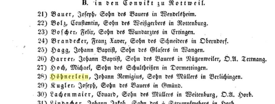 Bild Auszug aus dem Regierungsblatt des Königreichs Württemberg.